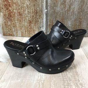 Korks by Kork Ease Felisa Black Leather Clog Sz. 8